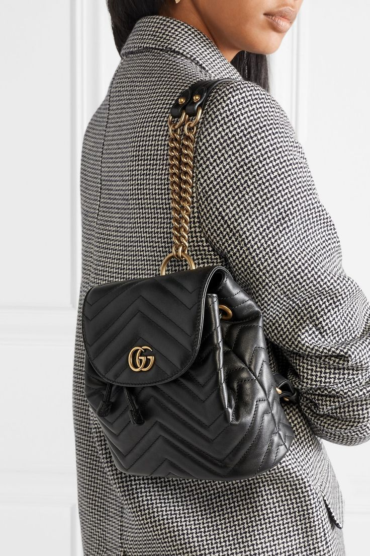 16d367fb2096a4 Gucci | GG Marmont quilted leather backpack | NET-A-PORTER.COM | My ...