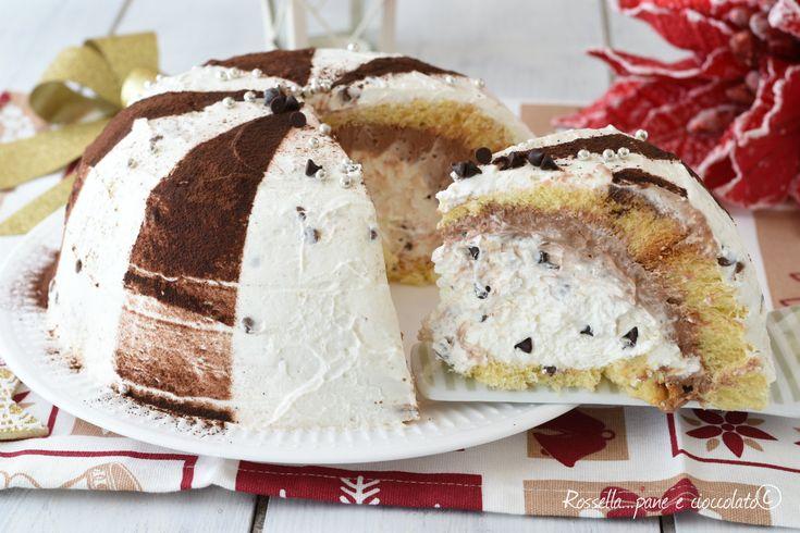 Lo ZUCCOTTO al PANDORO alla nutella e' facile e perfetto per la tavola del NATALE e delle Feste. La crema all' interno e' semplice da fare!