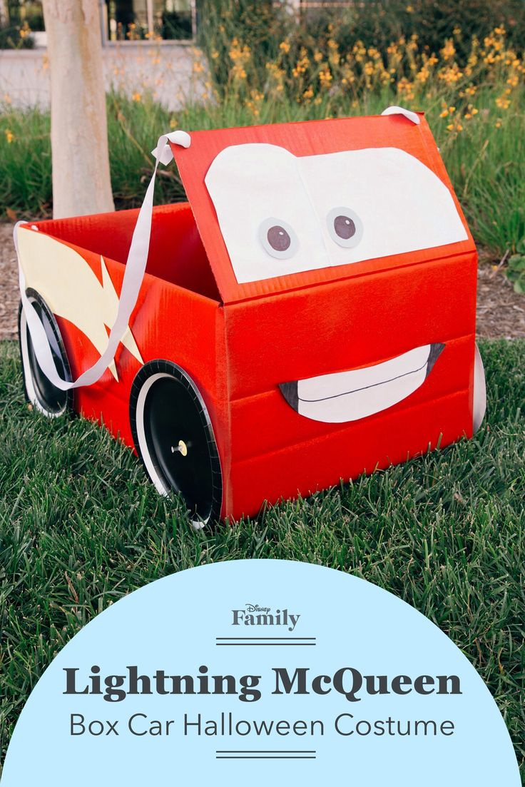 All you need for this adorable diy lightning mcqueen halloween costume is a box some