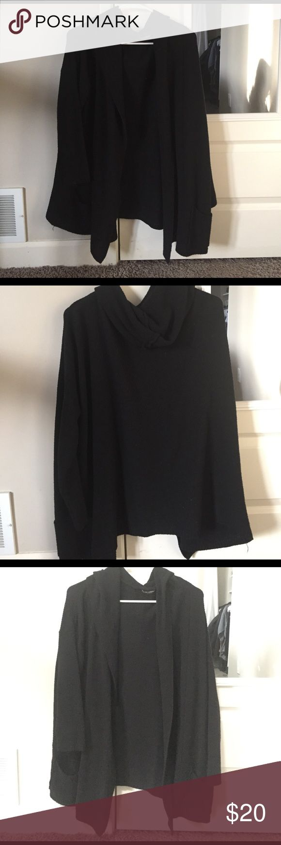 Brandy Melville cardigan Black open cardigan with good and pockets. Brandy Melville Brandy Melville Sweaters Cardigans