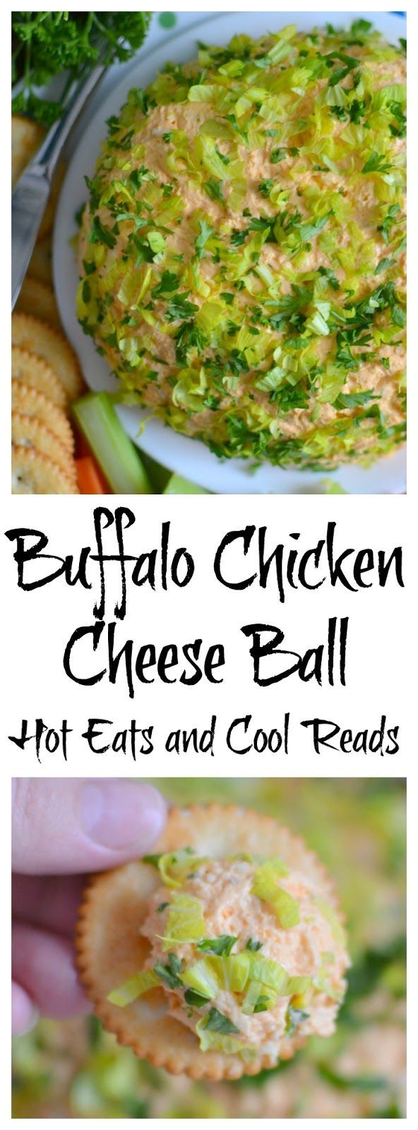 A tasty appetizer for New Year's or game day that's full of cheesy, garlic goodness! Turn the leftovers into a hot dip for an at home movie or date night! Buffalo Chicken Cheese Ball Recipe from Hot Eats and Cool Reads #HBPro @hamiltonbeach @amazon