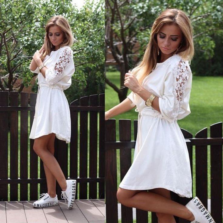 Dámské letní šaty s květinovými rukávy bílé – Velikost L Na tento produkt se vztahuje nejen zajímavá sleva, ale také poštovné zdarma! Využij této výhodné nabídky a ušetři na poštovném, stejně jako to udělalo již …