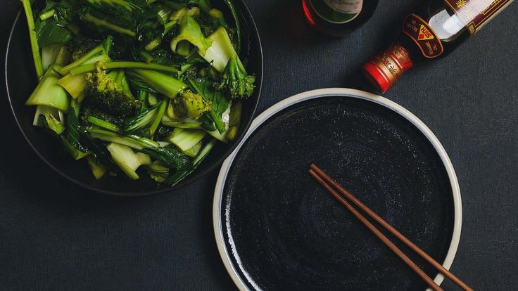 Live Better | Chinese greens stir-fried with soy sauce and ginger recipe