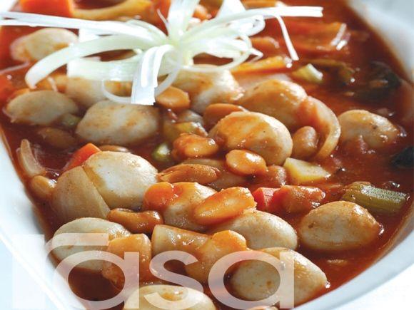 Kacang Panggang Stew Dengan Bebola Ikan - Resipi - Sayur - Resipi - Rasa