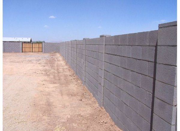 this block wall fence uses different types of blocks for on wall types id=55443