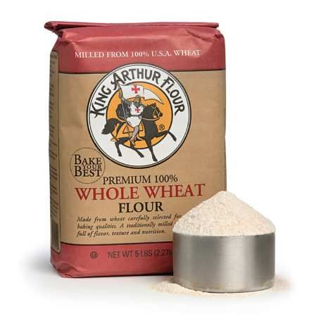 "King Arthur Premium 100% Whole Wheat Flour - 5 lb.  #CooksIllustrated Taste Test Winner ""Recommended""  (Tie)  Want to feel even better about supporting this company?  Check this out: ""1996: With thoughts of retiring, Frank and Brinna Sands decided to sell the company to their employees and began an Employee Stock Ownership Plan.""  That's right: instead of selling to a soulless corporation or leaving it to heirs, they sold their company to their employees.  #TasteTestTriumphs"