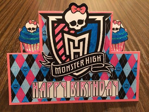 Monster High Card made by me.