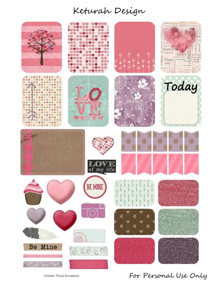 Free Be Mine Planner Stickers