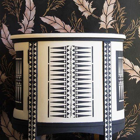 Raven+Lily Stencil Collection   Royal Design Studio Stencils   Tribal Furniture Stencil