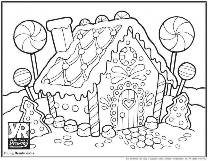 Gingerbread Coloring Pages Coloring Pages Gingerbreadhouse ...