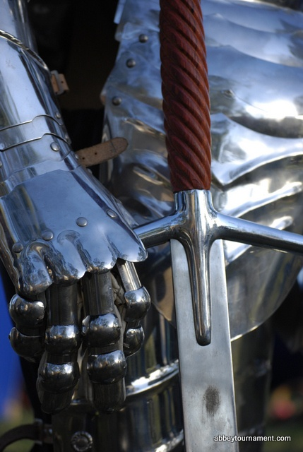 Here is a fine illustration of the exquisite craftsmanship used to create the swords and armour of our re-enactors at the Abbey Medieval Festival.  abbeytournament.com