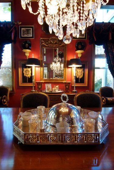 Esszimmer Red Rote Zimmer Wohnzimmer Englisch Stil Landhaus Landleben Herrenhauser Auf Dem Land