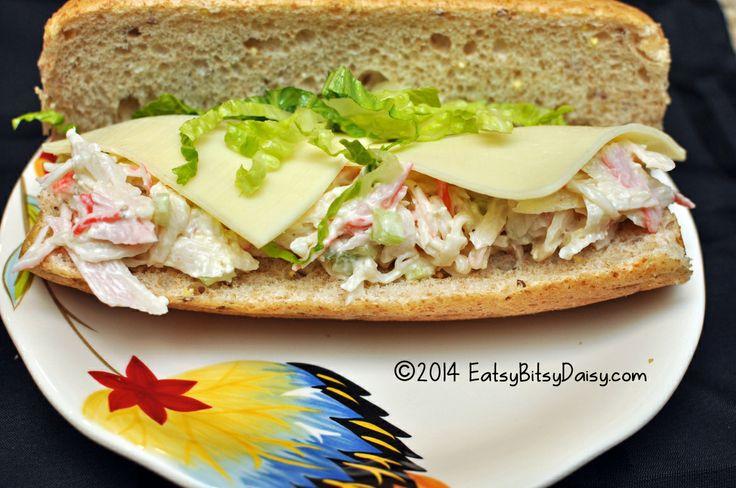 imitation crab salad sandwich  subway crab salad recipe sea food salad recipes crab salad