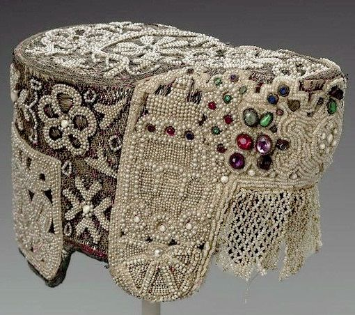 Jewelled pearl kokoshnik from the Museum of Fine Arts in Boston.