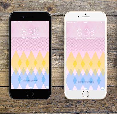 """Geometric Diamonds"" iPhone 6 digital wallpaper/creative background by LeMounir"