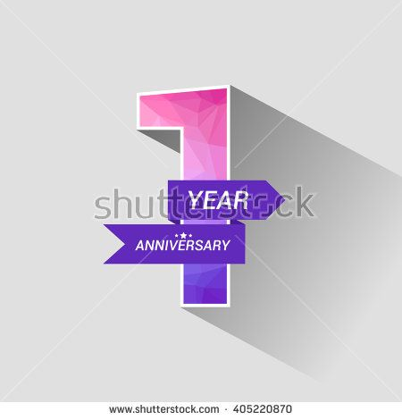 1 Years Anniversary with Low Poly Design