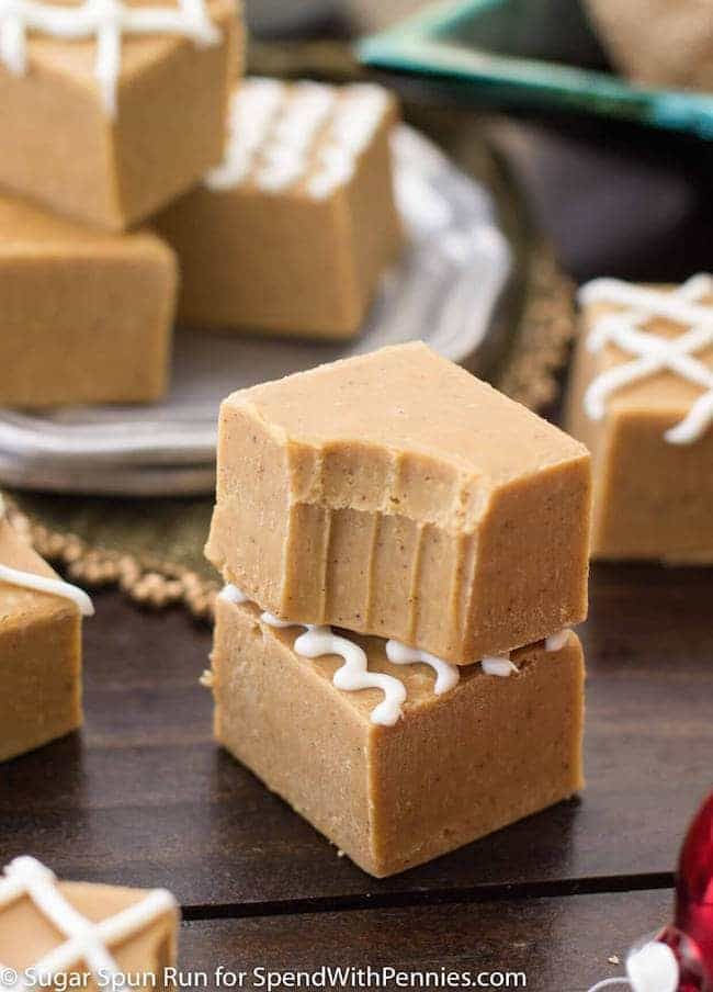 Gingerbread Fudge is an easy seasonally spiced fudge that takes just minutes to make with sweetened condensed milk & white chocolate & loads of warm spices.