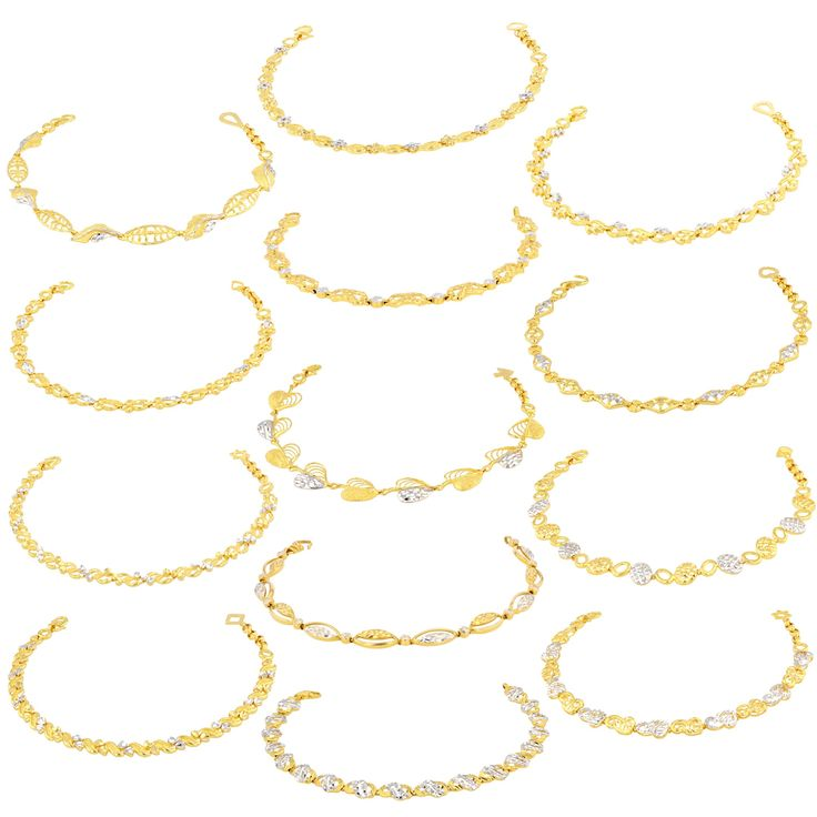 Ladies Bracelets made of 22ct Yellow Gold & Rhodium (bundle of  13 pieces variable designs). Available at MarketOrders.net #Ladies #Bracelets #Gold #Rhodium #Jewellery #22ctgold #retailers #products #SME #MarketOrders #MO #UK #singapore #B4B #business #best #price