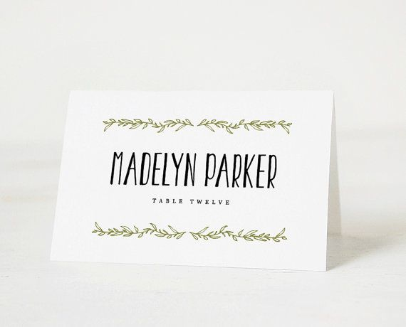 25+ Best Printable Place Cards Ideas On Pinterest | Vintage Place