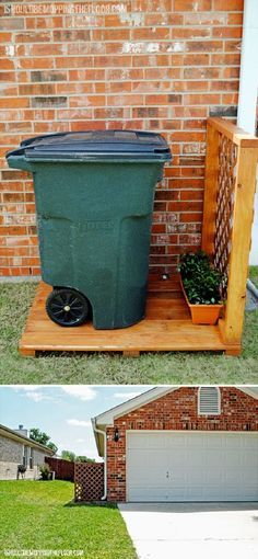 1000 Images About Garbage Can Shed On Pinterest: 1000+ Ideas About Hide Trash Cans On Pinterest