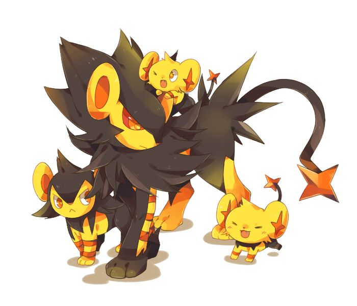 i just ;_; luxray is the best pokemon ever andi just, its so adorable, LOOK AT BABY SHINX