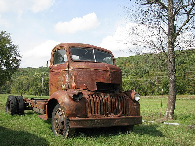 Love the rust on this old Chevy truck.
