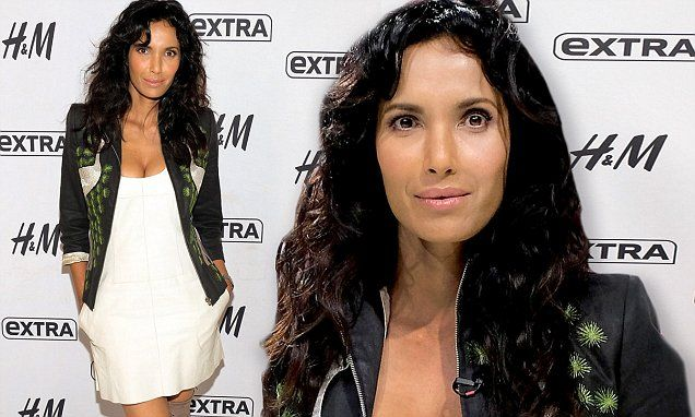 Padma Lakshmi sizzles in cream dress while promoting her new book
