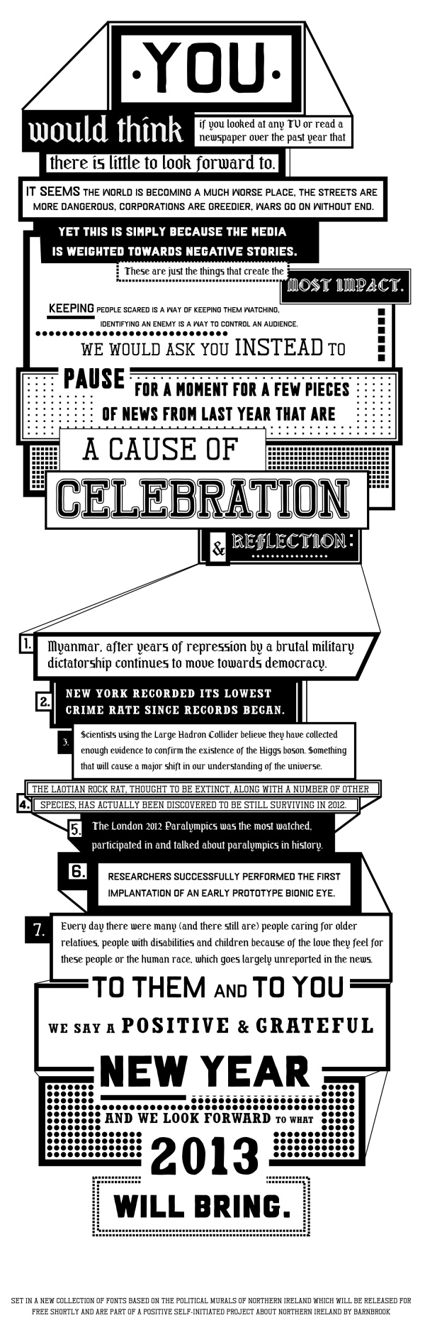 Jonathan Barnbrook's New Year's message.