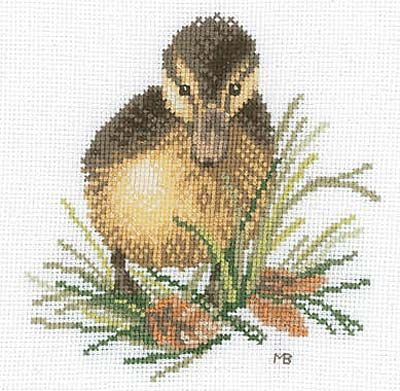 Duckling Cross Stitch Kit By Marjolein Bastin for Lanarte