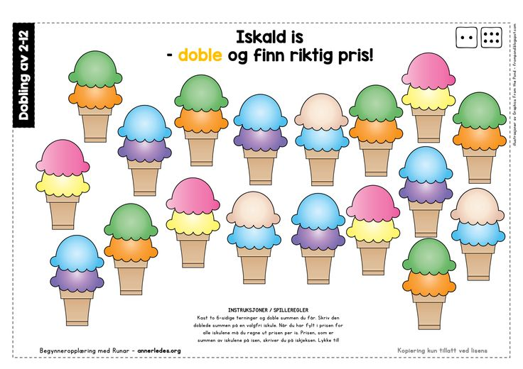Iskald is – doble og finn riktig pris! – Begynneropplæring med Runar