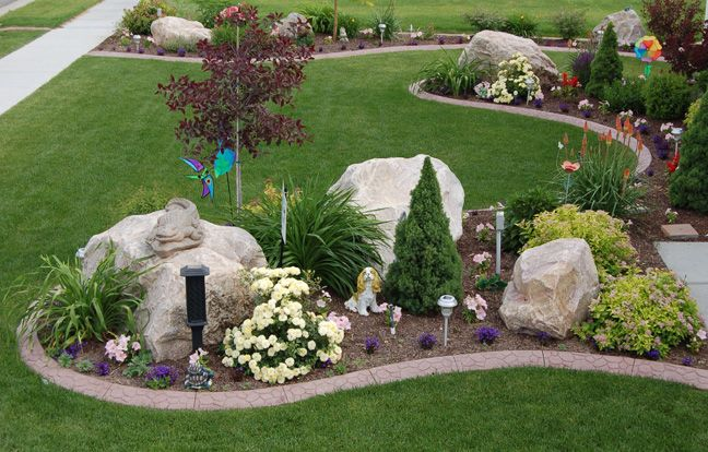 Nice lava rock landscaping read more on for Landscaping rocks erie pa