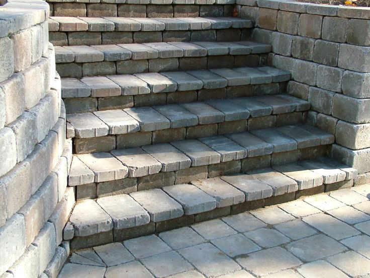Western Interlock Tegula Stairs And Retaining Wall