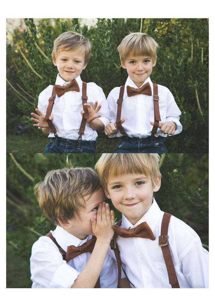 Look at this little boys with their handmade suspenders from genuine leather!! Proudly Eden&Co Quality Leather Goods