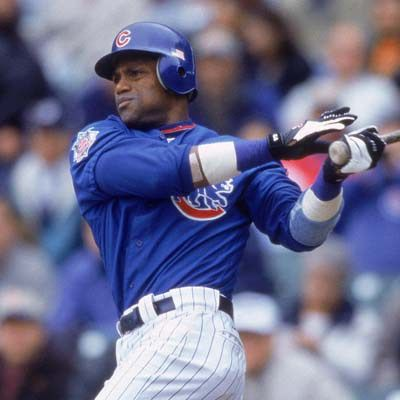 This is a picture of Sammy Sosa. He is a known MLB player to have used steroids. I might use him as an example in my motivational speech. I found this on Pinterest.