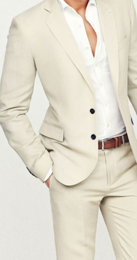 Ivory White Groom Suits