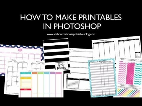 How to make planner printables in photoshop (step by step tutorials) how to make a printable how to make a daily planner how to resize printables how to make a weekly planner diy planner checklist notes page organizer agenda custom personalised planner