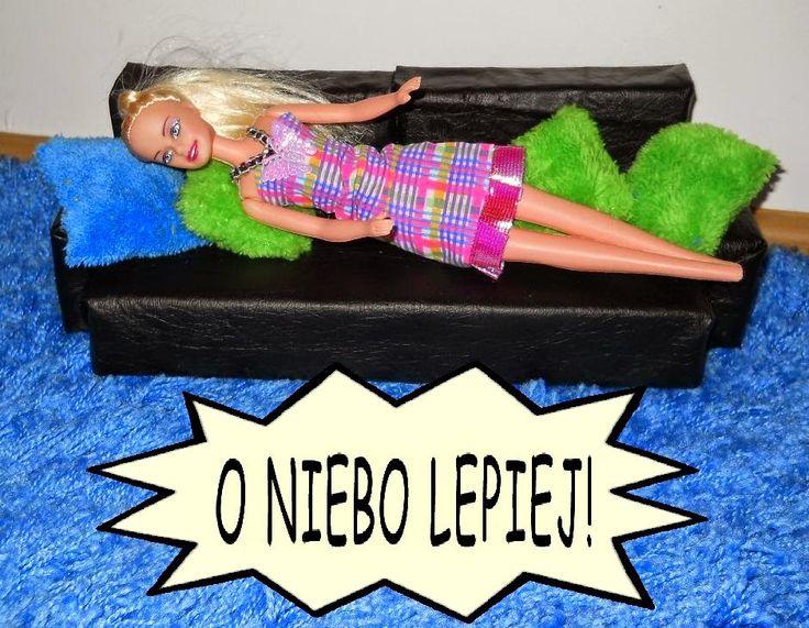 Meble dla Barbie: zrób je sam - wygodna kanapa