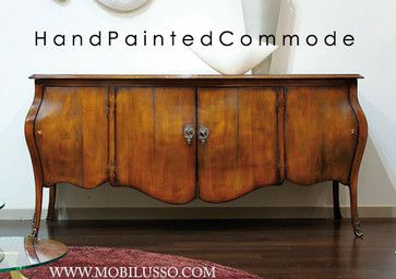 Luxury Italian Hand painted Bombe chest - traditional - buffets and sideboards - san diego - MobiLusso Furniture & Antiques