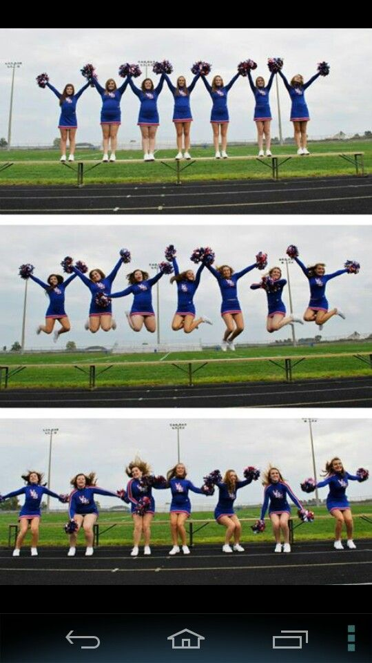 Cheerleading team photos