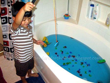 Bathtub Fishing Make Your Own Fishing Game Grandkids
