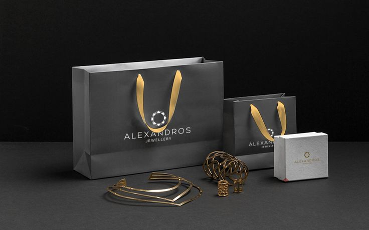 Shopping Bag & Packaging for Alexandros Jewellery