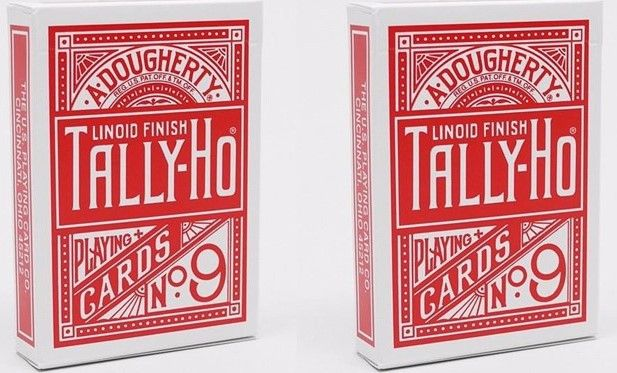 Tally-Ho Circle Back (Red) Playing Cards 2-Pack Set by Bicycle