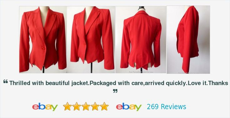 #Cue Jacket Size 10 US 6 Red Peplum Made In #Australia from #European Fabric #online #sale