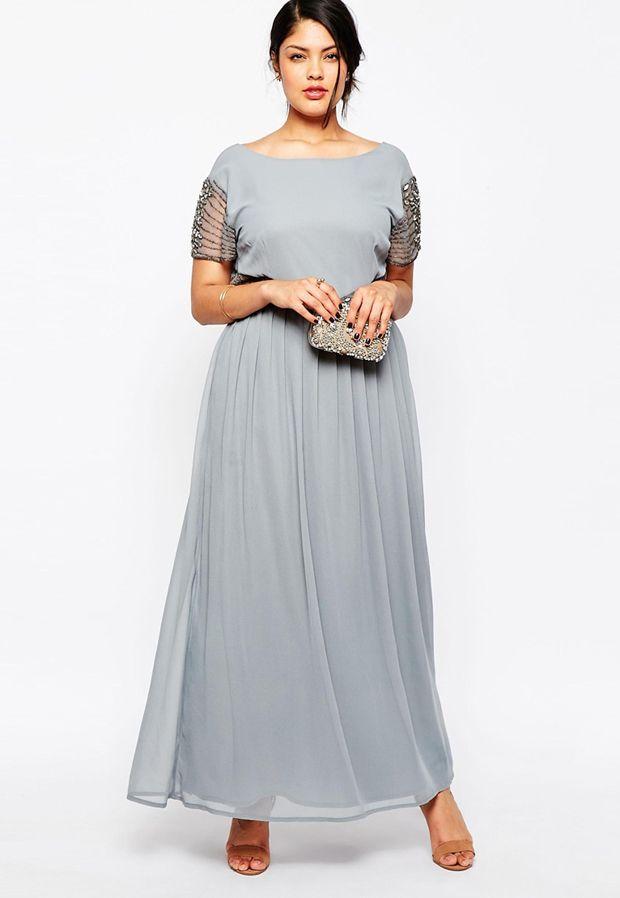 20 Gorgeous Grey Bridesmaid Dresses - Plus-size grey bridesmaid dress