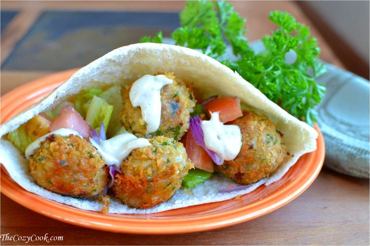 Falafel Pita Wrap: These falafels are so flavorful and perfect in a pita wrap! @Sandwiches #Falafel