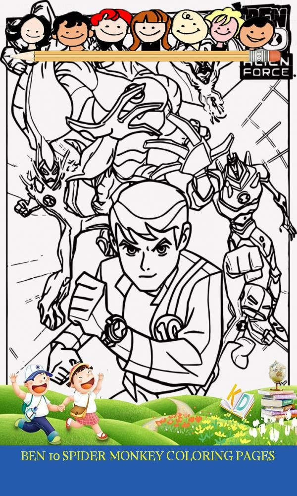 12 Ben 10 Spider Monkey Coloring Pages Monkey Coloring Pages Coloring Pages Spider Monkey