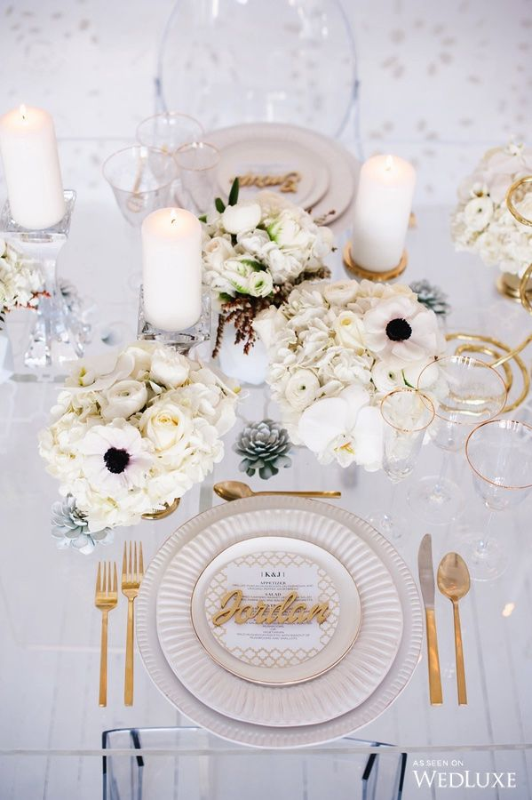 WedLuxe– Deco Glam | Photography By: Blush Wedding Photography Follow @WedLuxe for more wedding inspiration!