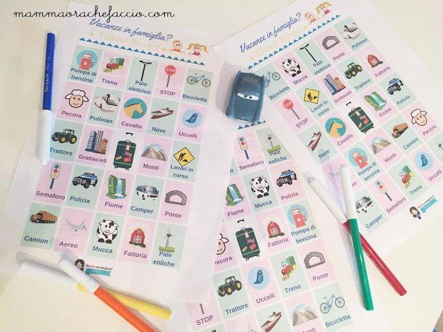 Vacanze e giochi in macchina per i bambini: travel bingo da scaricare e stampare!