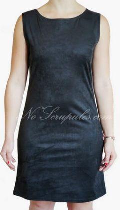 Le Singe de Julie robe suédine noire http://www.noscrupules.com/achat-robe-suedine-le-singe-de-julie-390408.html