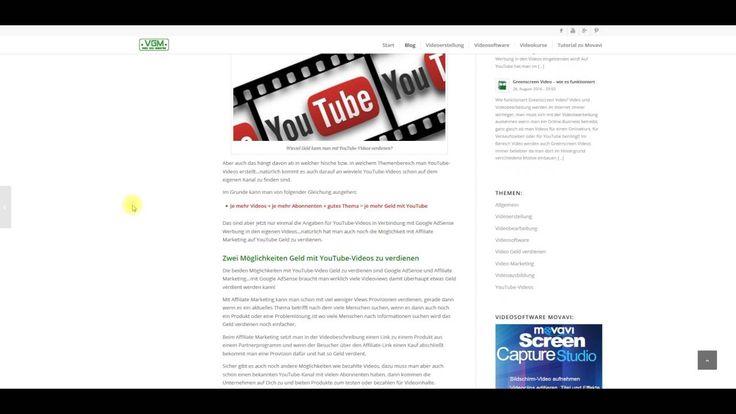 Infos im Video zur Frage wieviel Geld kann man mit YouTube-Videos verdienen…